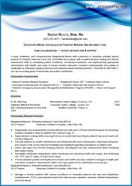 Registered Nurse Resume Example Gorgeous Rn Resume Template RESUMEDOCINFO