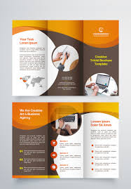 Creative Trifold Brochure Template 2 Color Styles Corporate Identity Template