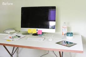 Before and After: How to Style and Organize your Desk in 6 Simple Steps