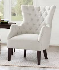 white tufted chair. Image Is Loading Off-White-Tufted-Wingback-Chair-Ivory-Accent-Wing- White Tufted Chair C
