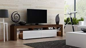 TV Stand MILANO 200 Walnut Line  Modern LED Cabinet Living Room Furniture