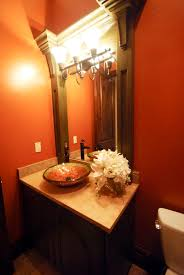 Decorating Guest Bathroom Idea For Small Guest Bathroom With Dim Light And Antique Wooden