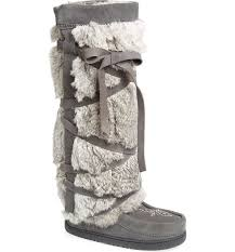 Mukluks Slipper Boots Size Chart Genuine Rabbit Fur Tall Wrap Boot