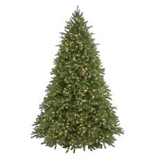 9 ft. Feel-Real Jersey Fraser Fir Artificial Christmas Tree with 1500