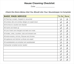 Residential Cleaning Checklist Template Download Free Office
