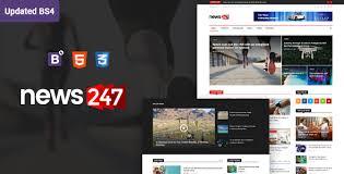 Download News247 News Magazine Newspaper Html5 Template