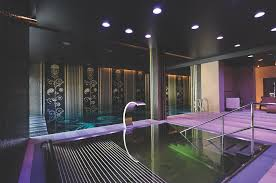 basement spa. This Elaborate Basement Spa, Featuring A Heated Pool, Jacuzzi, Gym, Sauna And Steam Room Was Created By Elite Stone Along With Stylish Entirely Spa