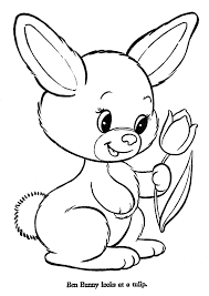 Easter Bunny Printable Coloring Page
