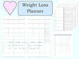Weight Loss Menu Planner Template Free Weight Loss Journal