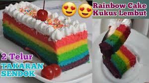 Yuk simak 10 resep kue lezat nan sederhana, seperti 7. Rainbow Cake Kukus 2 Telur Takaran Sendok Super Lembut Youtube