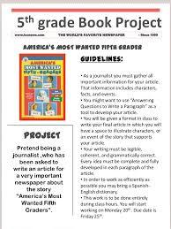 Newspaper Book Report Template Book Project Template
