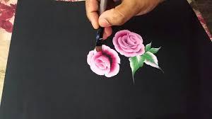 One Stroke Using Oil Paint