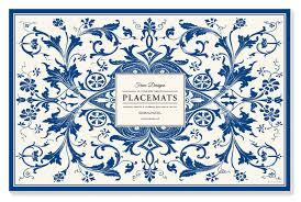 Designer Paper Placemats Faux Designs Abigail Blue Patterned 25 Count Designer Paper Placemats Easy Elegant Casual Entertaining