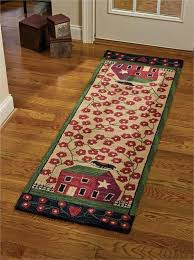 red runner rug 10 house hooked country barn 1
