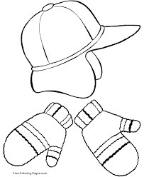 Small Picture Winter Coloring Pages Hat and Mittens