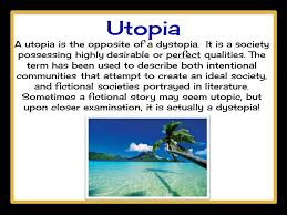 the giver novel genre dystopia utopia science fiction ppt utopia