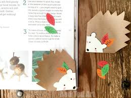 hedgehog bookmark corner diy super cute and easy to make the kids will love