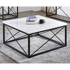 skyler white marble top square cocktail