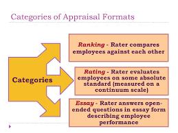 performance appraisals ppt video online  8 categories of appraisal formats