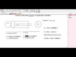 How To Calculate Force In A Hydraulic Cylinder Youtube