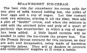 strawberry ice cream recipe new york tribune newspaper article 24 june 1897
