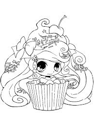 Kleurplaten Voor Volwassenen Cupcake Meisje Kleurplaat Stencils