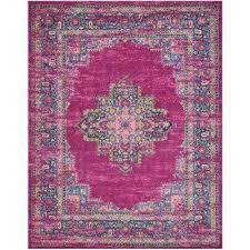 passion fuchsia 8 ft x 10 ft area rug