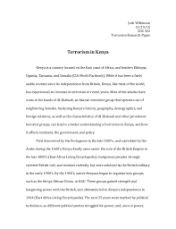 soc research paper josh wilkinson 11 19 15 soc 432 terrorism research paper terrorism in