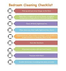 Bedroom Cleaning Checklist Bedroom Cleaning Checklist For Kids Photo
