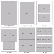 4 by 6 photo size print layouts