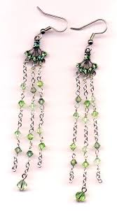 chandelier earrings i have made