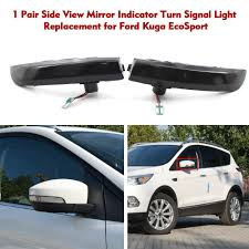 Mirror Emergency Lights Car Signal Light Abs Side View Mirror Indicator Car Turn Signal Light Led Accessories For Kuga Ecosport Emergency Lights For Vehicle Car Strobe Lights