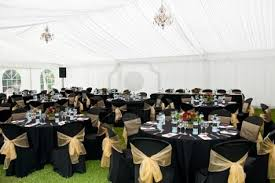 Image Detail For Wedding Marquee In Black And Gold Theme Royalty