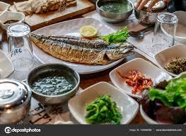 Grilled mackerel - Korean style food ...