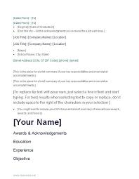 Very Simple Resume Very Simple Resume Template For Students Welcome To