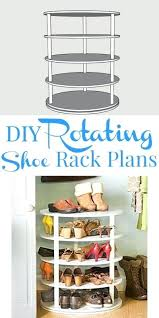 plans rotating shoe rack building plan free diy plans