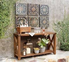designs outdoor wall art: sahara printed wood tiles wall art set pottery barn