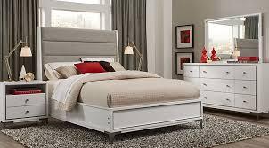 Felicity White 5 Pc Queen Upholstered Bedroom
