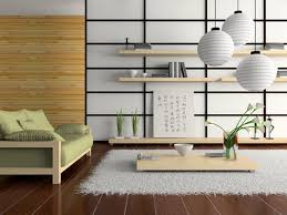 Contemporary Asian living room with shoji Screen inspired wall