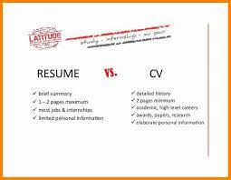 cv vs resume examples