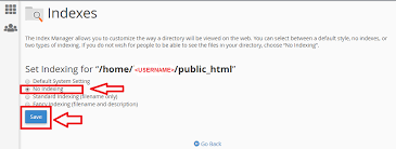 how to disable directory listing in