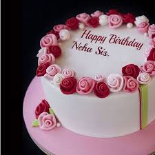 happy birthday chocolate cake for friend in heart shape neha.  Heart With Happy Birthday Chocolate Cake For Friend In Heart Shape Neha _