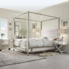 modern four poster bed king. Plain Four Taraval White King Canopy Bed And Modern Four Poster