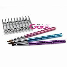 Beautygaga Pro Nail Art Tool Kit 3Pcs Kolinsky/nylon Hair Acrylic ...