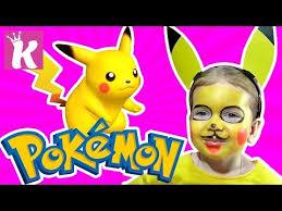 Покемон <b>Пикачу</b> Макияж Аквагрим для детей <b>Pokemon Pikachu</b> ...