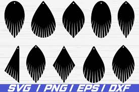 fringe earring svg leather earring jewelry laser cut file example image 1