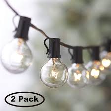 Lemontec Commercial Grade Outdoor String Lights Lemontec String Lights 25ft Vintage Backyard Patio Lights With 25 Clear Globe Bulbs Ul Listed For Indoor Outdoor Use Globe Wedding Light Deckyard