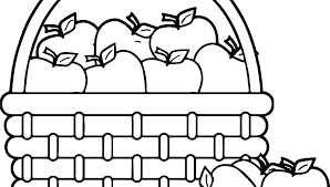 Coloring Pages For Apples Fruit Coloring Pages Apple Page Of An For
