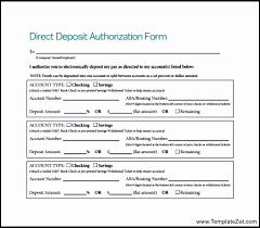 Direct Deposit Authorization Form Interesting 44 Direct Deposit Authorization Form Template Easy Writing