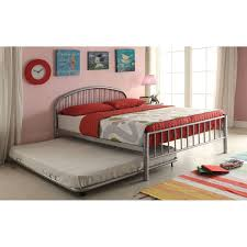 full size trundle beds for adults.  Beds Acme Cailyn Silver Metal Full Size Trundle Bed Silver 73L X 54 Inside Beds For Adults U